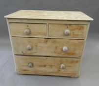 A Victorian pine chest of drawers. 88 cm wide.