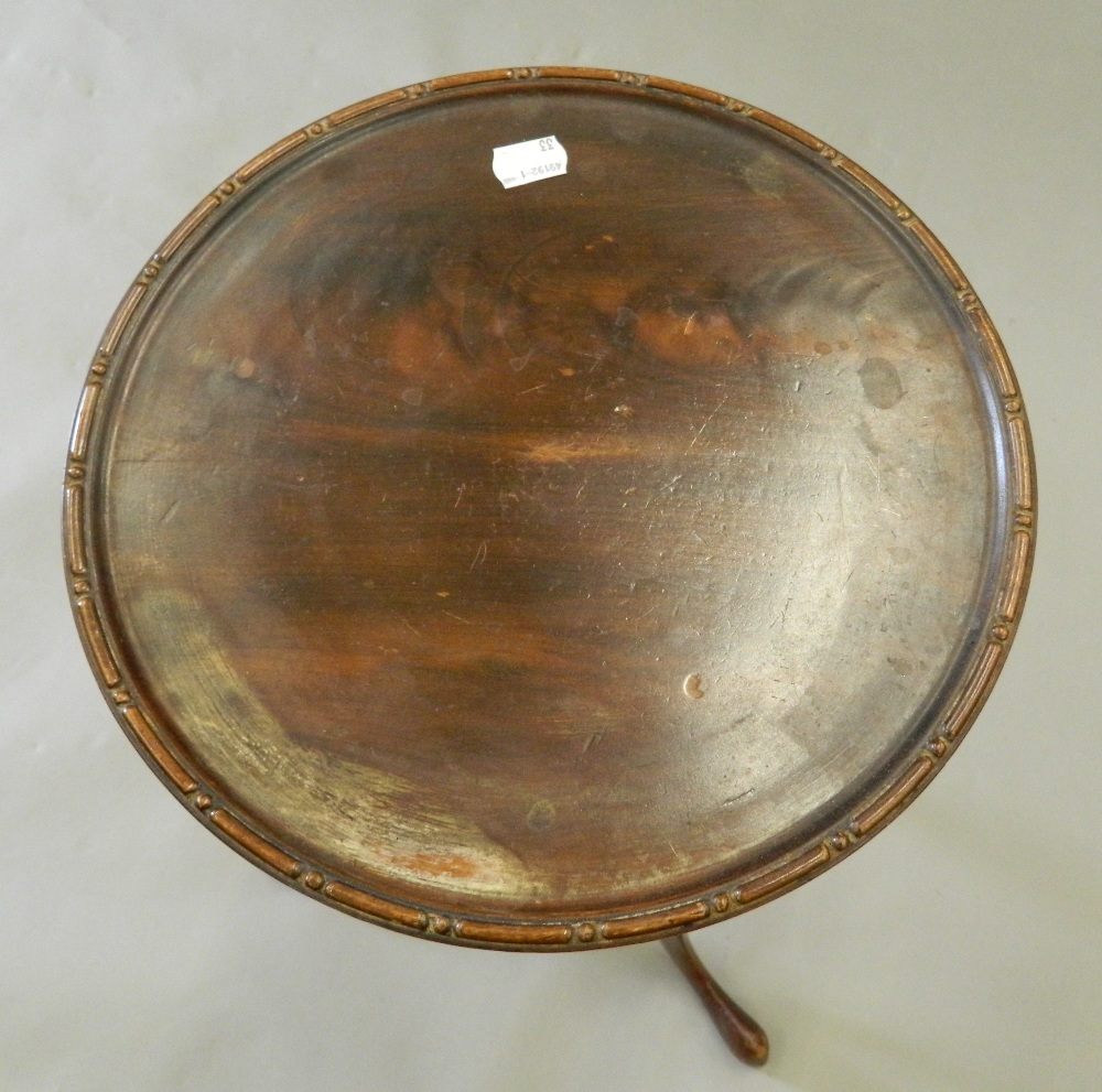Three mahogany tripod tables. The largest 46.5 cm wide. - Image 6 of 6