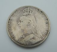 An 1889 Victorian crown