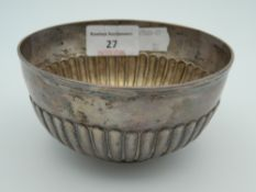 A silver bowl. 11.5 cm diameter (4.4 troy ounces).
