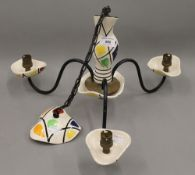 A 1950s French porcelain chandelier. 28 cm high.
