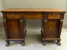 An early 19th century mahogany sideboard. 163 cm wide.