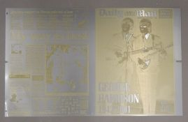 A limited edition copy of The Daily Mail print set up for the special tribute edition for George