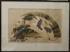 A Japanese woodblock print of A Fan by GYOKKO, 1910,