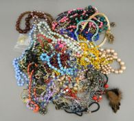 A quantity of various costume jewellery