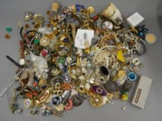 A quantity of various costume jewellery, watches, etc.