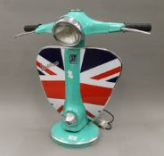A large Vespa lamp. 62 cm high.