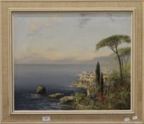 JOSEF KUGLER SEN (born 1913) Austrian, View of the Amalfi Coast, oil on canvas, signed, framed.