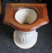 A Victorian J Taylor & Sons column toilet. 43 cm high.