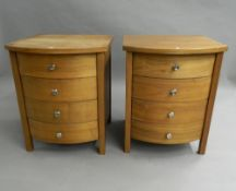 A pair of modern bedside drawers. 69.