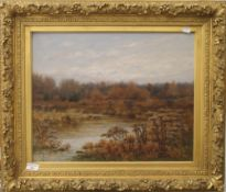 HARRY ALLCHIN, Ramshorn Creek in the Catskill Mountains, USA, oil, signed, framed. 49.5 x 40 cm.