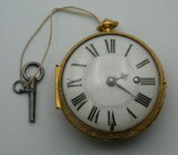 An unmarked Verge onion style pocket watch. 6 cm diameter.