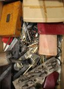A quantity of various engineering tools, drawing sets, etc.