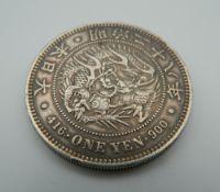 A 416 One Yen 900 silver coin