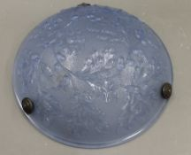 An Art Deco glass plafonnier. 35 cm diameter.