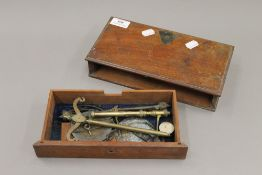 A 19th century set of box scales. 26.5 cm wide.