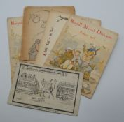 A small quantity of WWI military Christmas cards, etc. 11.5 cm wide.