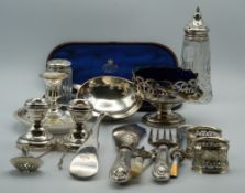 A quantity of silver and silver plate