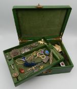 A box of various jewellery, etc.