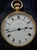 A late 19th century 14 ct gold filled pocket watch, by Elkington,