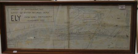 A Diagram of Photogeometric Survey of British Railways Depot.
