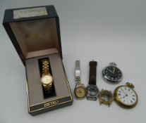 A quantity of wristwatches and pocket watches.