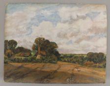 REV ALFRED HASTINGS, Rural Scene, oil on board, indistinctly signed. 30 x 23.5 cm.