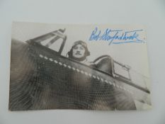 A rare original RAF WWII fighter ace Bob Stanford-Tuck autograph signature with 18 kills in WWII,
