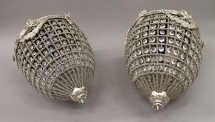 A pair of ceiling lights. 45 cm high.