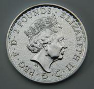 A solid silver 1oz Britannia 2017 coin
