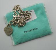 A Tiffany & Co silver bracelet. 33.5 grammes.