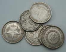A quantity of South American and Central American coins