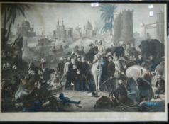 A 19th century print, The Relief of Lucknow and Triumphant Meeting of Havelock,