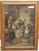 A Pears print, framed and glazed. 32 x 45 cm.