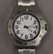 A working Elevon wristwatch. 4.5 cm wide.