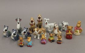 A quantity of Wade porcelain figures, etc.