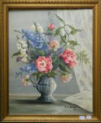 Still Life of Flowers, oil, signed R K SILVEIRA and dated '83, framed.