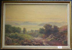 SYDNEY WATTS, Loch Scene, oil on canvas, framed. 59.5 x 40 cm.