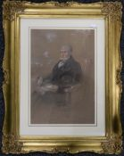 Two Victorian pastel portraits, one a Young Girl, the other a Seated Gentleman,