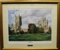 Ely Cathedral, print, framed and glazed. 60 x 47 cm.