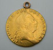 A 1788 Spade guinea. 7.3 grammes.