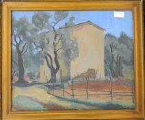 AUSTRALIAN SCHOOL (20th century), Italian Scene, oil on board, unsigned, framed and glazed.