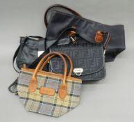A quantity of handbags, including Jaeger,