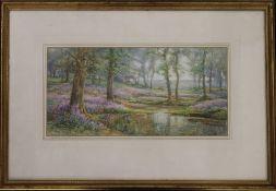 FREDERICK GOLDEN SHORT (1863-1936) British, Woodland Scene, watercolour, signed, framed and glazed.