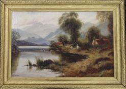 RICHARDS, Highland Loch Scene, oil on canvas, signed, framed. 58 x 40 cm.
