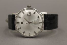 A boxed Tissot Automatic Date Seamaster gentleman's wristwatch. 3.5 cm wide.
