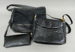 A quantity of handbags,