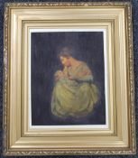 19TH CENTURY SCHOOL, Mother and Child, oil on canvas, framed. 37 x 48 cm.
