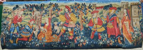 A French Aubusson tapestry. 189 cm wide.