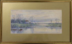 ROBERT WINTER FRASER (1872-1930) British, Fenland Scene, watercolour, signed, framed and glazed. 36.